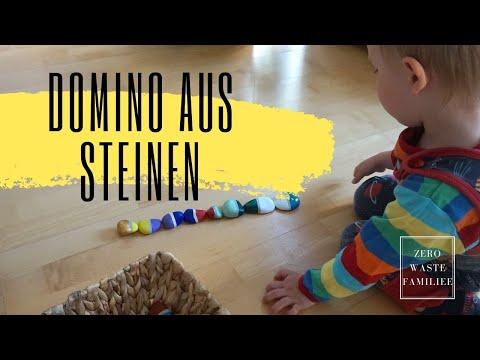 0 - Basteln und Spielen mit Naturmaterialien - ein Domino aus Steinen