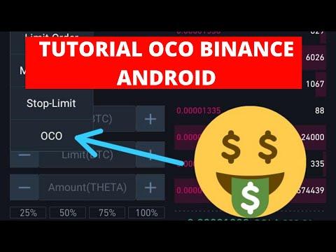 COMO USAR BINANCE EN EL CELULAR [Ordenes Oco Para Android] Tutorial Completo Trading Criptomonedas
