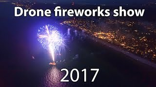Seaside Florida July 4th Fireworks Show 2017 - Aerial Drone Footage