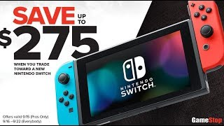 New Nintendo Switch With Better Battery Life Available For $75 With Gamestop Trade In Offer