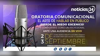 """Noticias24 te ofrece el curso """"Oratoria: el arte de hablar en público"""", no pierdas esta oportunidad"""