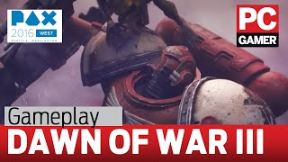 Dawn of War 3 gameplay - 40 minutes of orbital laser love