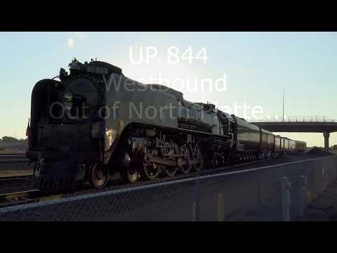 Union Pacific 844 Departs North Platte, NE July 2017