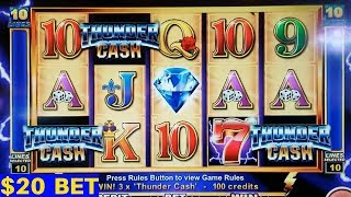 High Limit THUNDER CASH $20 Bet Bonus |(High Limit Konami)Fortune Stacks $10 Bet Bonus | Quick Hit