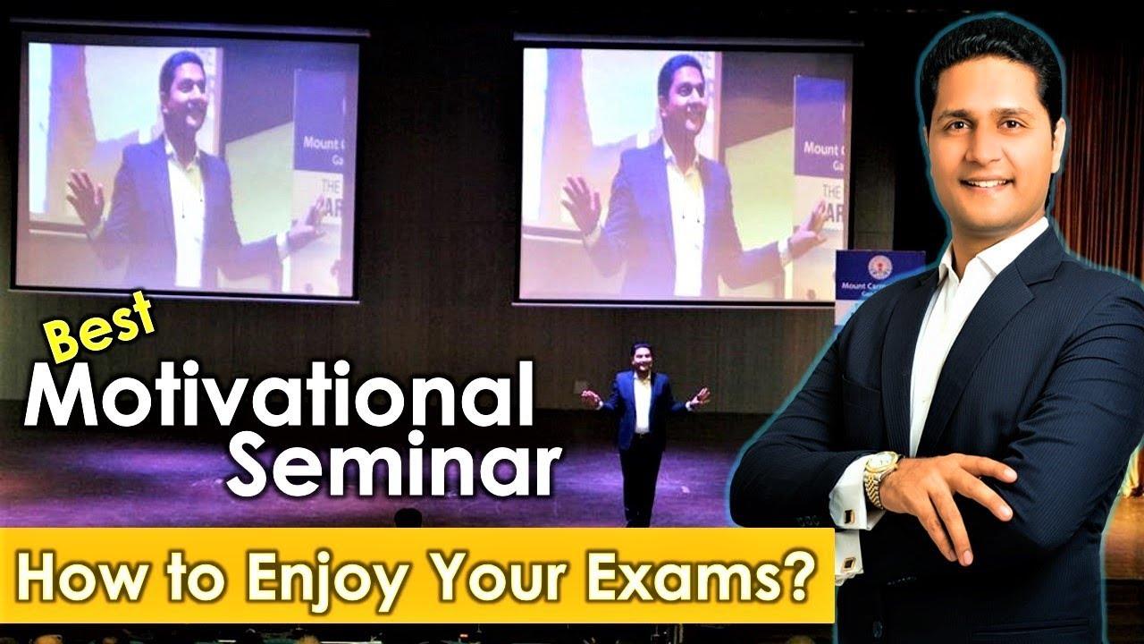 Motivational Seminar For Students In Hindi On Enjoy Your Exams Study Tips By Parikshit Jobanputra Youtube
