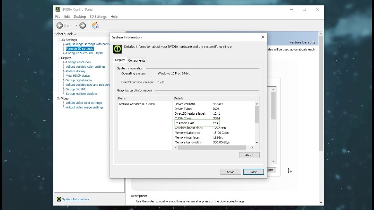 Download Enable Resizable Bar on a RTX 30 series | 3060 | Increase FPS :)