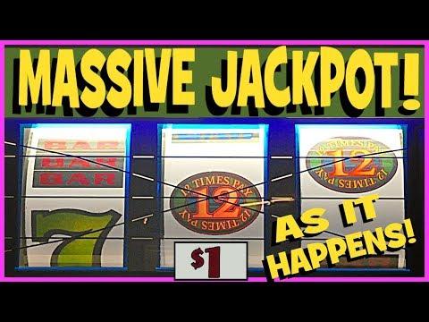 ★ JACKPOT, AS IT HAPPENS! ★ HANDPAY!! ★ '12 TIMES PAY' Slot! ★ Brent Slots ★