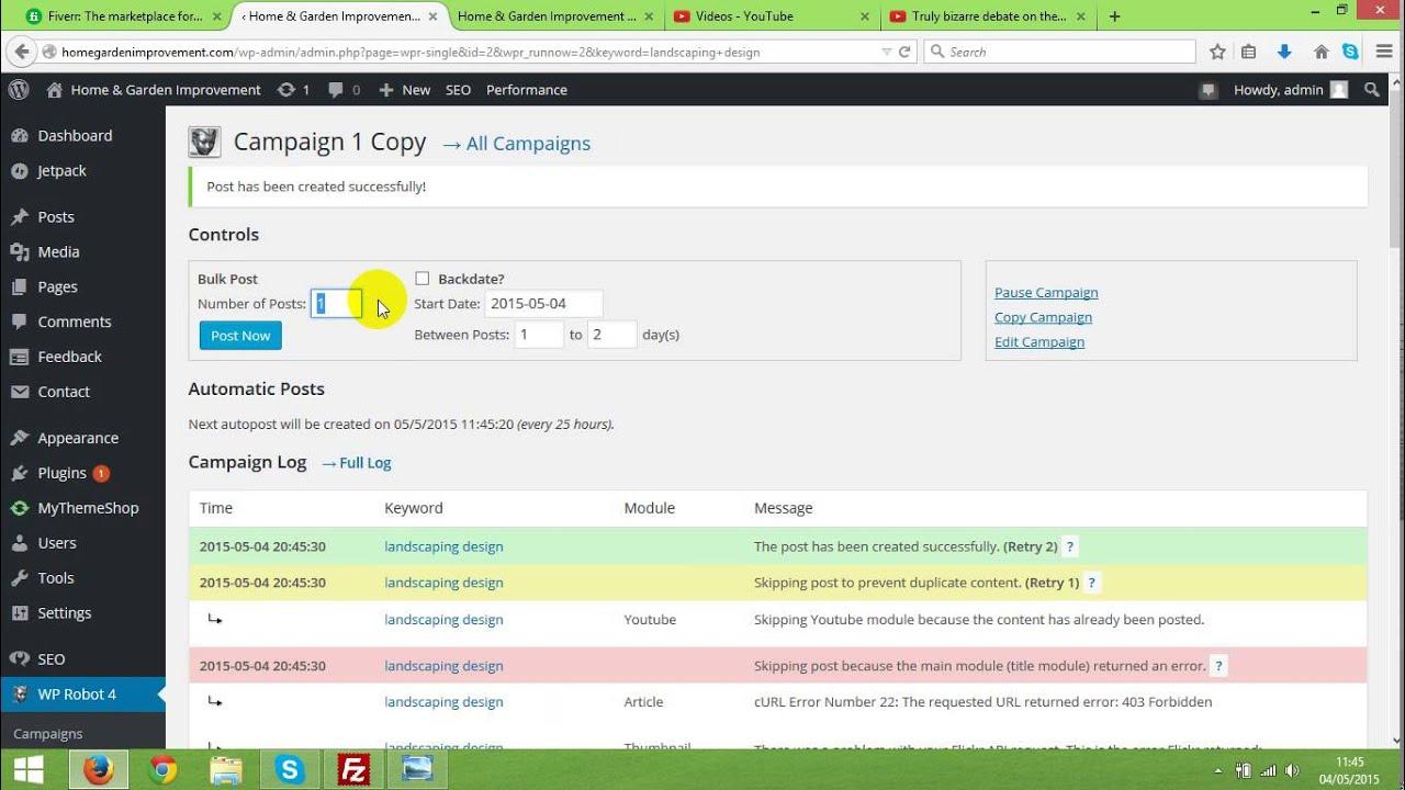 Backdating blog posts wordpress tutorial