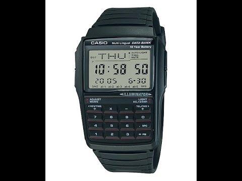 5d24441f5a5 Casio DBC-32-1AES relógio calculadora - YouTube