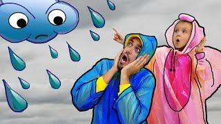 Rain, Rain, Go Away canción infantil, aprender colores con bebé y papá y canciones para niños