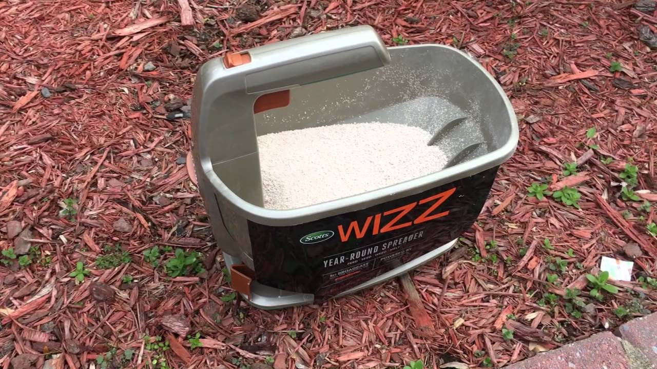scotts wizz spreader (review & demo) weed, feed, & salt spreader