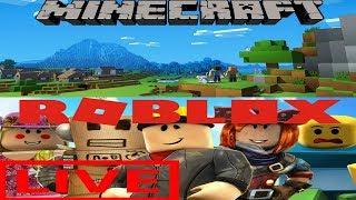 Minecraft Lunes & Roblox con espectadores! - Transmisión de problemas dobles - Interactive Streamer