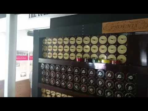 Bletchley Park - The Turing Bombe (Front Face and in action)