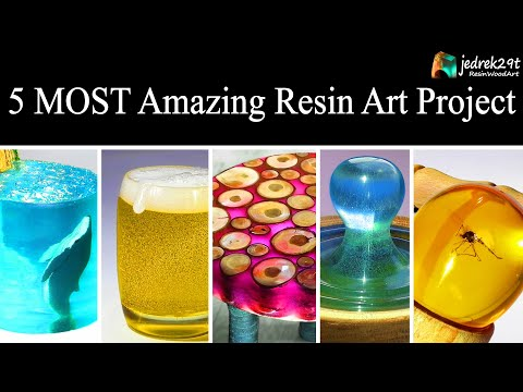 5 MOST Amazing Project from Epoxy RESIN. Tutorial / RESIN ART /Part 1