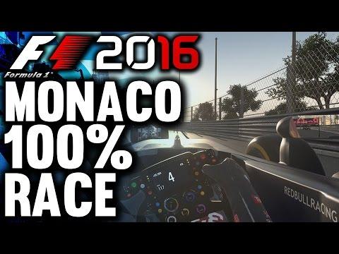 F1 2016 Gameplay: MONACO 100% RACE | Max Verstappen