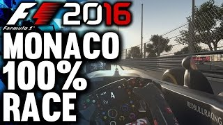 F1 2016 Gameplay: MONACO 100% RACE | Max Verstappen