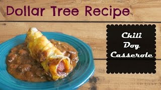 Dollar Tree Recipe- Chili Dog Casserole