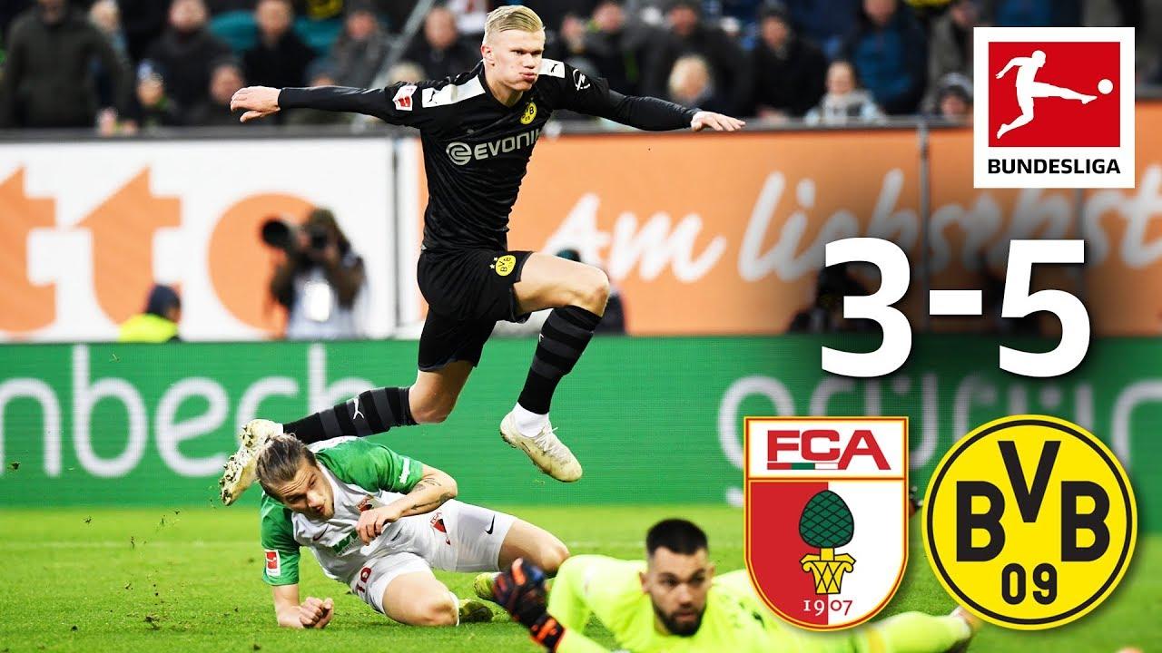 FC Augsburg vs. Borussia Dortmund I 3-5 I Haaland Hat-Trick Leads BVB to Sensational Comeback