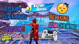 ASMR Gaming 😴 Fortnite Relaxing Arena Division 5 Gum Chewing 🎮🎧 Controller Sounds + Whispering 💤