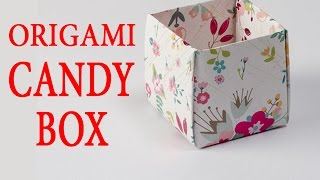 How to Make a Candy Box  | DIY Easy Origami For Kids