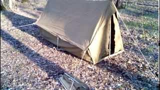 Видеоинструкция №1: как в одиночку поставить палатку