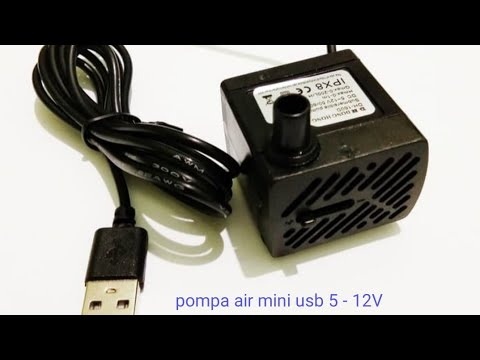 Pompa Air Celup Mini Usb Dc 5v 12v 200l H Youtube