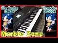Gambar cover MARBLE ZONE with Yamaha PSR-EW410 Sonic Ost Soundtrack keyboard