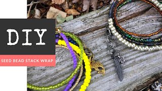 Seed Bead Stack Wrap Bracelet with Charm DIY with The Bead Place