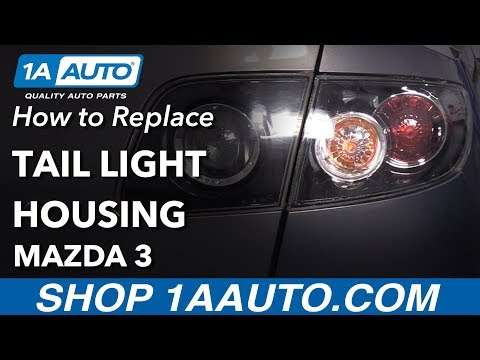 How to Replace Tail Lights 07-09 Mazda 3
