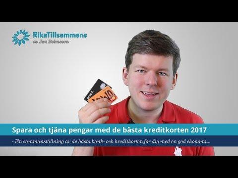 Spara och tjäna pengar med de bästa kreditkorten 2017