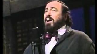 Pavarotti on Letterman