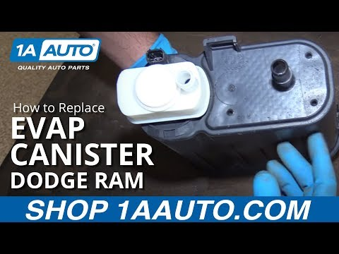 How to Inspect and Replace EVAP Emissions Charcoal Canister Dodge Ram 1500 BUY PARTS AT 1AAUTO.COM