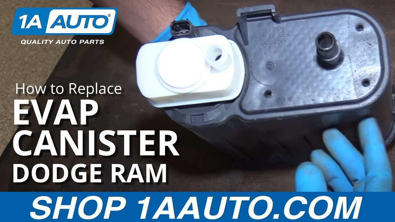 how to replace evap canister 02 08 dodge ram 1500 youtube