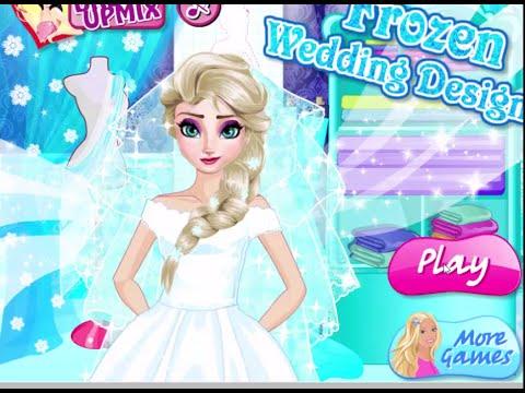 frozen wedding designer games