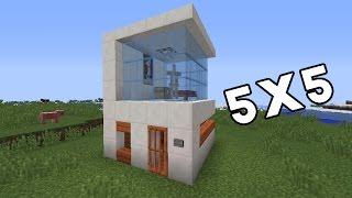كيف تعمل بيت عصري  5x5 في ماينكرافت !