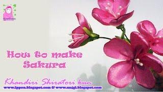 Cara Membuat Bunga Sakura dari Pita (Ribbon Sakura)