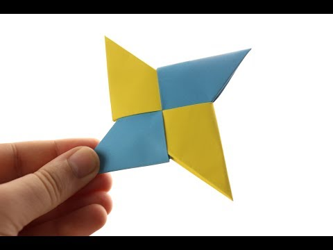 ✅How To Make a Paper Ninja Star (Shuriken) - Origami