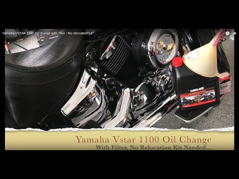 Yamaha VSTAR 1100 Maintenance - Oil change with filter - Without relocation kit