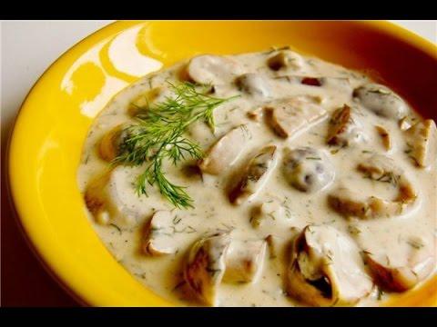 рецепт картошки с лисичками в сметане