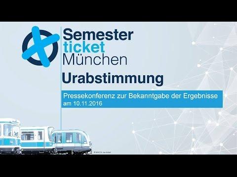 Urabstimmung Semesterticket München 2016 - Pressekonferenz mit Ergebnissen