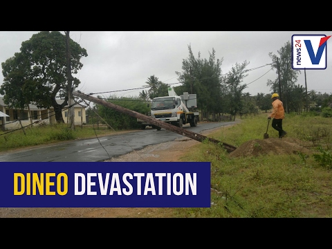 WATCH: Downgraded Dineo leaves path of destruction in Mozambique