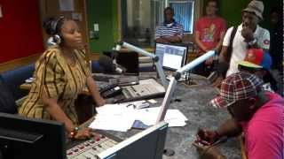 Tholoana Moletsane with MACUFE Comedians 2012 in studio
