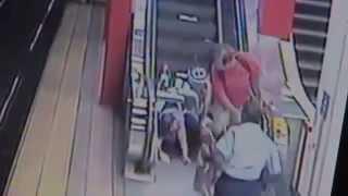 Woman In Wheelchair Falls Down Escalator at Broadway Station Boston