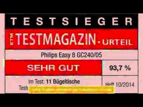 philips gc24005 easy8 table repasser - youtube