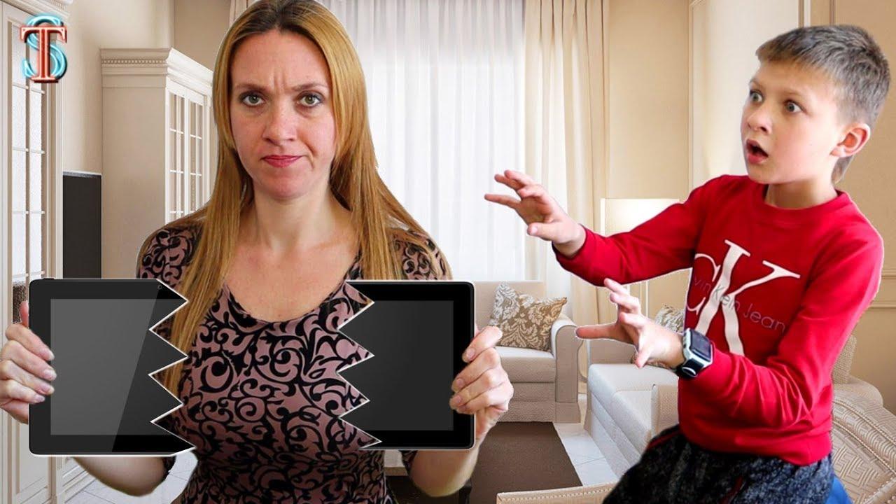 Мама НЕ РАЗРЕШАЕТ играть на планшете! Что придумал Тима?