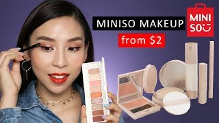 Trying Cheap Miniso Makeup from $2!