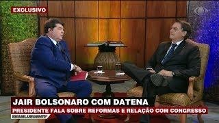 Datena entrevista o presidente Jair Bolsonaro