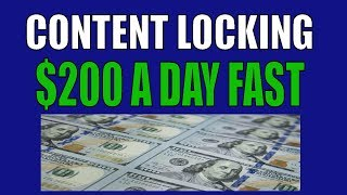 CPA Content Locking | $200 a day make money online | cpa Grip | Ogads | Adworkmedia cpa
