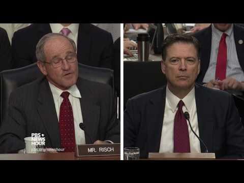 James Comey: I took President Trump