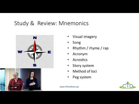 Study Skills 2: Multi-Sensory Learning and Review